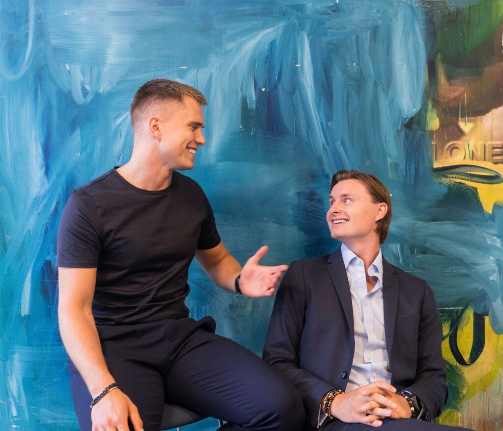 Founders of Custimy.io Kristoffer Degn (left) and Martin Navne (right)